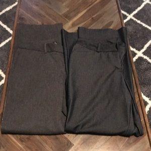 Lot of 2 dress slacks 10p Worthington/George